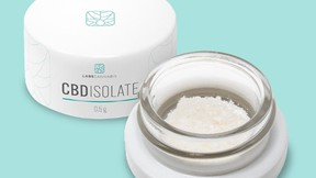 Each container of the LABS Cannabis CBD Isolate contains 500mg of CBD in an odourless powder form.