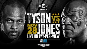 """""""It feels great to return to the ring after 15 years and I'm thrilled that Weedmaps is the title sponsor of this remarkable moment in my career,"""" said Tyson."""