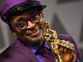 """FILE: Best Adapted Screenplay winner for """"BlacKkKlansman"""" Spike Lee attends the 91st Annual Academy Awards Governors Ball at the Hollywood & Highland Center in Hollywood, Calif. on Feb. 24, 2019. /"""