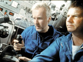 FILE: James Cameron and actor Bill Paxton revisit the Titanic's wreckage in the 3-D IMAX documentary Ghosts Of The Abyss. /