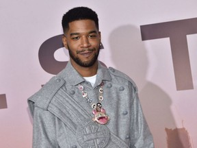 """Kid Cudi arrives for the Los Angeles season three premiere of the HBO series """"Westworld"""" in Hollywood on March 5, 2020."""