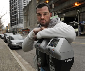 """Good Samaritan Tom MacLachlan was shocked a Vancouver bylaw officer ticketed a vehicle after he plugged the owner's meter as a """"random act of kindness."""" (Arlen Redekop photo/ PNG)"""