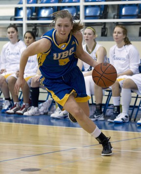 UBC Thunderbirds' Kris Young is among the Canada West's leaders in a number of statistical categories. (Richard Lam, UBC athletics)