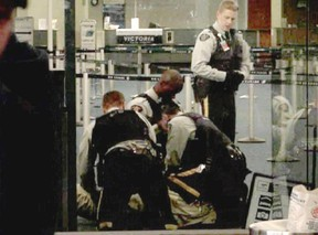 Cpl. Monty Robinson was the most senior officer involved in the fatal take-down of Robert Dziekanski at the Vancouver airport in 2007. (PNG FILES)