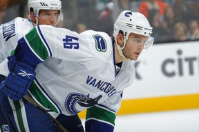 Canucks prospect Nicklas Jensen was sent to the AHL on Wednesday, along with Frank Corrado. (Photo: Getty Images