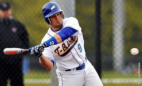 UBC's Greg Densem is part of a senior core of Birds' hitters who have pushed their batting averages to career highs this season. (Richard Lam, UBC athletics)