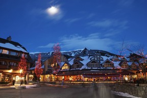Whistler Village is beautiful at dusk, but the municipality has the most secretive government in Canada, says a Canadian journalists' organization. (PNG FILES)
