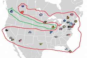 NHL new divisions 2013
