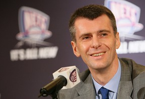 Mikhail Prokhorov, owner of the Brookyn Nets of the NBA, in 2010. Getty Images file photo.