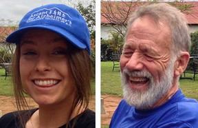 Alexa Laidlaw (left) is the youngest team member at 24, while Brian Wood is the senior member at 71.