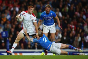 Connor Braid in action at the Commonwealth Games sevens in Glasgow.  (Photo by Hannah Peters/Getty Images)