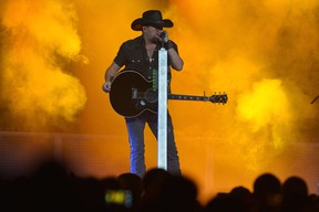 Jason Aldean: Burn It Down Tour Reigning three-time ACM Male Vocalist of the Year and Entertainer of the Year nominee. With guests Cole Swindell, Tyler Farr and Dee Jay Silver. • Rogers Arena, 800 Griffiths Way • Oct. 2, 7:30 p.m. • $69.50/$49.50, ticketmaster.ca, livenation.com (Jason Davis/Getty Images)