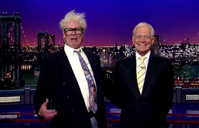 Will Ferrell as Harry Caray last night on The Late Show.