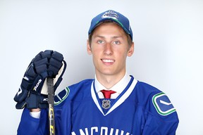 Guillaume Brisebois was selected by the Canucks 66th overall in June. (Photo by Mike Ehrmann/Getty Images)