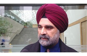 Harjit Atwal speaks to reporters outside B.C. Supreme Court in Vancouver.  — Jennifer Saltman/PNG