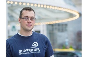 Matthew Unger is the chair of Surfrider Foundation Vancouver, a group campaigning for a ban on plastic microbeads.   Ric Ernst/PNG