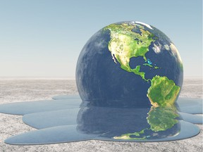 Earth melting into water [PNG Merlin Archive]