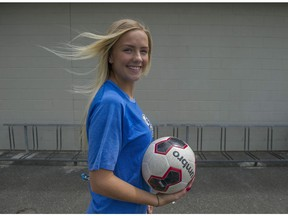 North Delta-Burnsview's Emma Peckinpaugh never gave up on her dream of a collegiate soccer dream. (PNG photo)
