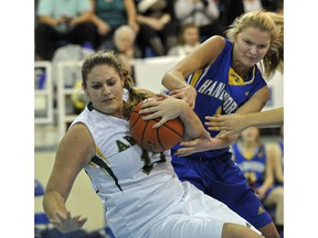 Argyle's Robyn Aulin-Haynes (left) continues her hoops career at Capilano. (PNG file photo)