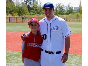 Antonio Cusati is a catcher with Hastings, the host team for the Canadian Little League championship. His cousin, Anthony Cusati, was part of the Hastings crew that won the nationals and made it to Williamsport, Pa., in 2009.