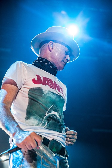Gord Downie gives it his all at The Tragically Hip's final concert in Kingston, Ont. on Aug. 20, 2016.