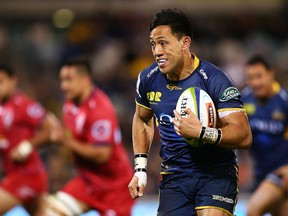 CANBERRA, AUSTRALIA - JULY 01:  Christian Lealiifano of the Brumbies runs the ball during the round 15 Super Rugby match between the Brumbies and the Reds at GIO Stadium on July 1, 2016 in Canberra, Australia.  (Photo by Mark Nolan/Getty Images)