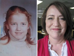 Juline Whelan in 1972 (left), around the time she met Dolly Parton, and in 2016.
