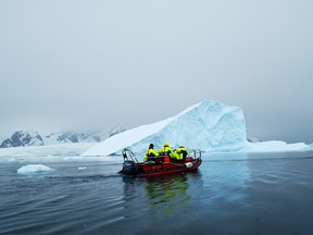 "See the splendours of Antarctica without the seasickness with Quark's unique ""Fly the Drake"" cruisetour options."