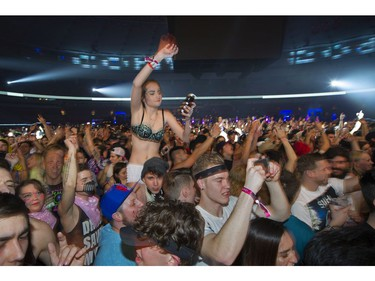 Millennials dance the night away at the sold out CONTACT Winter Music Festival.