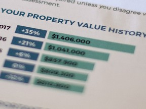 A copy of a homeowner's 2017 Property Assessment Notice. Many Vancouver property owners have lost the homeowners grant due to soaring property assessments, but it's questionable whether the grant should still be applied at all, writes Gordon Clark.