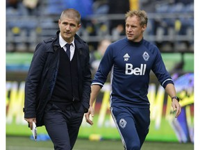 Vancouver Whitecaps assistant coach Martyn Pert is shown at the team's training session at UBC on Monday.