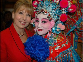 Dianne Watts, the MP for South Surrey White Rock, and Liberal MLA hopeful Karen Wang, right, helped usher in the Year of the Rooster at the Bell Centre for Performing Arts.