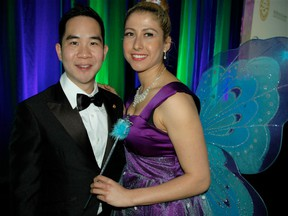Award of Merit recipient Dr. Alan Chan was the youngest honouree toasted at the Toothfairy Gala, which is the main source of funding for the B.C. Dental Association's Save a Smile program. Chan received congratulations from this year's Toothfairy Eliza Regenyi.