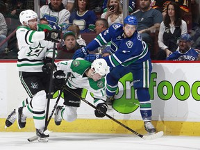 Michael Chaput gets a chance to see how he'll fare on a line with Henrik and Daniel Sedin against the Oilers.