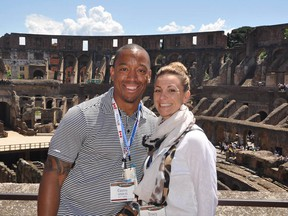 B.C. Lions director of Canadian scouting Geroy Simon and his wife Tracy Lasorsa-Simon in a Facebook photo