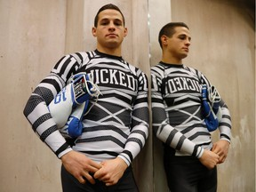 French mixed martial art  athlete Tom Duquesnoy takes a break from training in Paris in February.