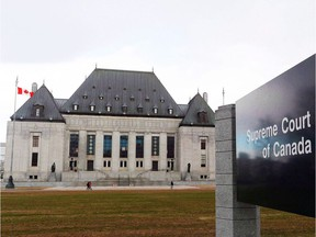 The Supreme Court of Canada in Ottawa is shown in an April 14, 2015, file photo.