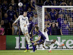 Jake Nerwinski and his Whitecaps teammates cleared the ball from their own penalty area 54 times on Saturday in a 2-1 win over Orlando.