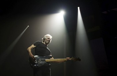 Pink Floyd co-founder Roger Waters performs on his Us + THEM tour at Rogers Arena, Vancouver, October 28 2017.