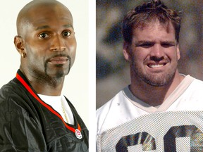 CFL greats Eric Carter and Jamie Taras will be named to the B.C. Lions Wall of Fame as part of a halftime ceremony on Saturday.