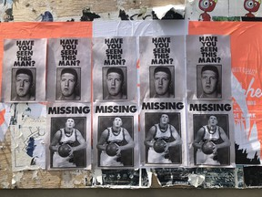 A series of posters promoting a coming documentary about Bryant Reeves near 3rd and Quebec in Vancouver on July 3, 2018. [PNG Merlin Archive]