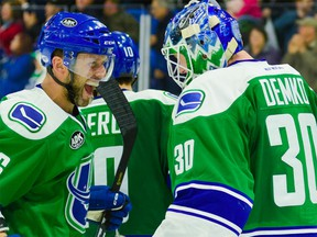 Utica Comets goalie Thatcher Demko had a successful return to the ice this past week after a concussion had sidelined him.