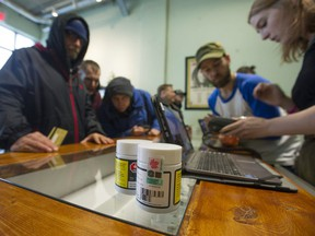 Evergreen Cannabis Society on West 4th Avenue in Vancouver officially opened its doors to the public on Saturday.