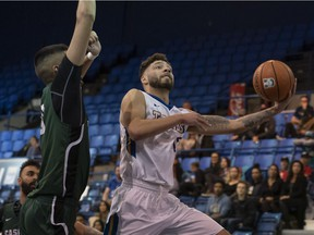 The UBC Thunderbirds faced the University of Fraser Valley Cascades during U Sports Canada West basketball playoffs at UBC in Vancouver on Feb. 14.