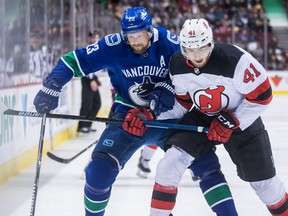 Alex Edler demonstrated leadership on and off the ice for the Canucks this season, and has earned the team's nomination for the King Clancy Memorial Trophy.