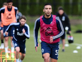 Ali Adnan, the Vancouver Whitecaps latest signing, goes through his first training session with the club at UBC on Tuesday.