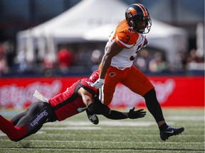 John White of the B.C. Lions has stepped up his running game and should be one of the keys when his CFL squad faces the Edmonton Eskimos Thursday at B.C. Place Stadium.