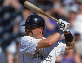 Canadian Larry Walker was elected to the Baseball Hall of Fame on Tuesday. (GETTY IMAGES)