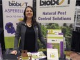 Amanda Brown, a biological crop protection specialist with Biobest, sets up a booth at the Lift & Co. Cannabis Expo in Vancouver on Jan. 9.