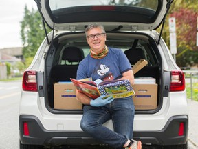 Ian Cunliffe's mobile library's first delivery to Canyon Heights elementary school kids is Friday.